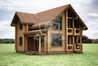 Сруб дома из бревна Проект дома из бревен Варвара