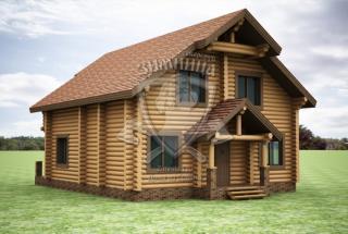 Сруб дома из бревна Дом из бревен Екатерина