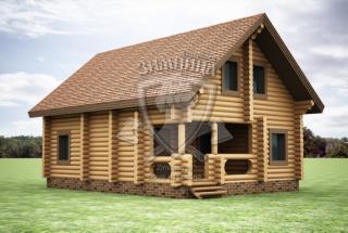 Сруб дома из бревна Дом из бревен Оливия