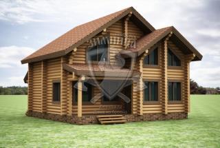 Сруб дома из бревна Арина