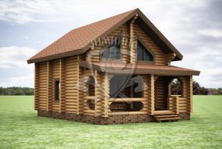 Сруб дома из бревна Проект дома сруб Полина