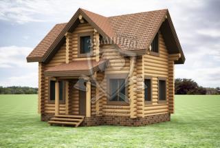 Сруб дома из бревна Дом со сруба Альба