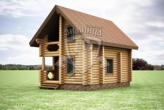 Сруб дома из бревна Деревянный сруб дома Долорес