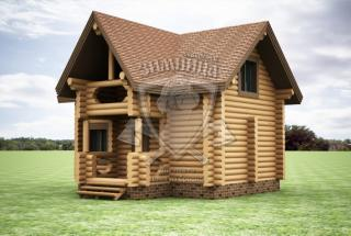 Сруб дома из бревна Дом из сруба Есения