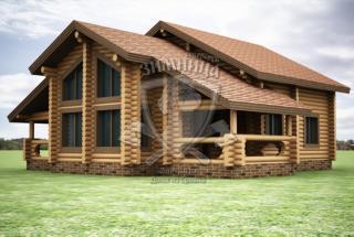 Сруб дома из бревна Проект дома Таисия