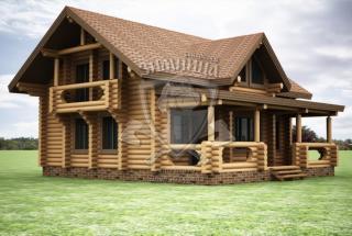 Сруб дома из бревна Проект дома Богдана