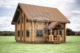 Сруб дома из бревна Проект дома со сруба Анфиса