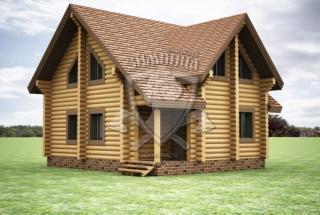Сруб дома из бревна Дом из бревна Инесса
