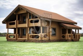 Сруб дома из бревна Проект дома Мадина